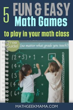 Subscribe and you'll get this awesome resource of easy math games that will make math fun! All of these games can work with any grade level! #mathgames #easymathgames #mathcardgames