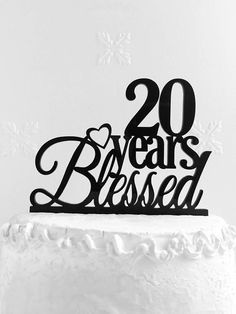 20 Years Blessed Cake Topper  20th Birthday Cake Topper