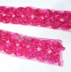 Renda de Tule bordada Pink- Pç com 1 M