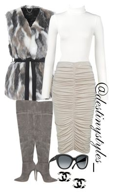 """""""Untitled #100"""" by iamdestinnny on Polyvore featuring Jane Norman, Wolford, Chanel, women's clothing, women's fashion, women, female, woman, misses and juniors"""