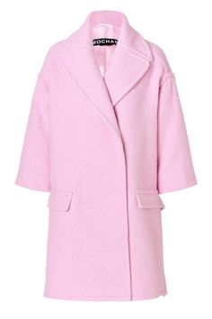 The Coat Rochas Virgin Wool Blend Coat, $1,705; stylebop.com.Photo: Courtesy of Stylebo  Read more: Pastel Pink Fall 2013 Trend - Pink Clothing and Accessories Follow us: @ElleMagazine on Twitter   ellemagazine on Facebook Visit us at ELLE.com