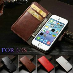 Case For IPHON 5 Vintage Wallet PU Leather Phone Cases for iPhone 5S Case iPhone SE 5SE Luxury Cover for iPhone 5 Case WHAY PU ** For more information, visit image link.