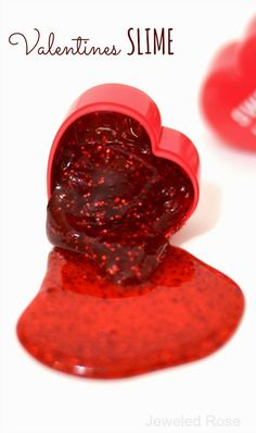DIY Valentines Day Gift Ideas for making  homemade slime for the kids. Plus free printables.
