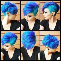 Manche Frauen nehmen nur eine Farbe ins Haar, aber man kann auch verschiedene Farben wählen. Man sieht sogar bis 3 verschiedene Farben ins Haar. Man kann es selbst so verrückt machen, wie man möchte. Wir zeigen Kurzhaarfrisuren mit fabelhaften Farbkombinationen.