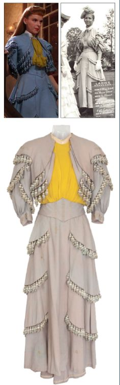 """This gown, originally designed for Judy Garland in """"Meet Me In St.Louis"""" was used again in """"Hello Dolly!""""   #JudyGarland, #HelloDolly, #MeetMeInSt.Louis, #Film, #Costumes"""