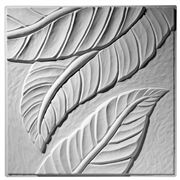 This contemporary ceiling tile has a larger scale leaf pattern and contemporary flair. Ceiling Panels, Ceiling Tiles, Contemporary Ceiling Tile, Flower Ceiling, Interior Ceiling Design, Decorative Plaster, French Flowers, Desert Flowers, Commercial Interiors