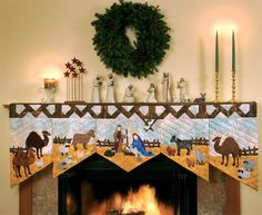 Love this mantel decoration from Martingale - Adoration Quilts eBook
