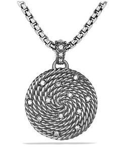 Cable Coil Small Pendant with Diamonds by David Yurman at Neiman Marcus.
