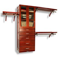 Lowes Closet Rod Awesome Allen Roth 8Ft Java Wood Closet Kit I Think That I Should Start