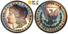 Never previously exhibited, one of the finest proof Morgan dollar collections in the PCGS Set Registry®, including this beautifully toned 1901 graded PCGS will be displayed at the 2019 FUN convention. American Coins, Coin Shop, Coin Grading, Proof Coins, Silver Dollar, Program Design, In A Heartbeat, Fun Facts, The Incredibles