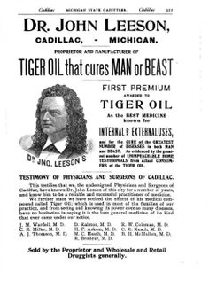 Snake Oil salesman from my home town of Cadillac, Michigan