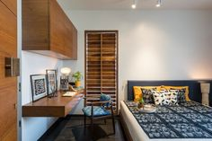 Image 20 of 29 from gallery of The H Cube House / Studio Lagom. Courtesy of Studio Lagom Home Room Design, House Design, House, Home, Home Bedroom, Bedroom Interior, Indian Bedroom Design, Indian Homes, House Interior