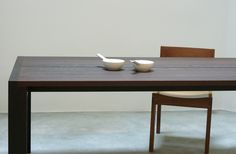 Wood Table 5 by Henry Built. Beautiful solid wood 'honest' table without all the bravado of contemporary design. I wish we had more craftmanship like this.