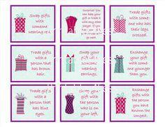 Gift exchange idea for christmas