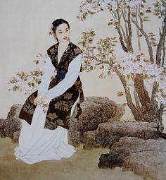 中華的美女画(チュンホアダメイニュウホア)・・・・・ 王美芳(ワンメイファン) - 気まぐれ美術館