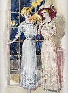 Belle époque-1910 fashion - ✯ http://www.pinterest.com/PinFantasy/lifestyles-~-belle-%C3%A9poque-y-a%C3%B1os-1920-arte-y-moda/
