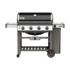 Now available at Home Depot: Weber Genesis II E-410 4-Burner Propane Gas Grill in Black