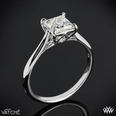 Named after the Arabic word meaning 'Ray of light' the Vatche 'Inara' Solitaire Engagement Ring for Princess Cut Diamonds is one brilliant addition to our Serenity Collection. Made specifically for Princess Cut Diamonds, this beauty features smooth, sleek lines and two surprise Round Brilliant Diamond Melee (0.10ctw; G/VS) nestled under the head. This is the sister design to our <a ...