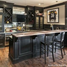 It's not a man cave without a TV and bar! Click the pin to see seven awesome basement remodels you wish you had.