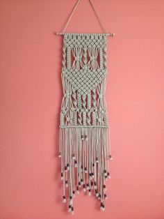 Pared de macrame colgante, Macrame Home Decor