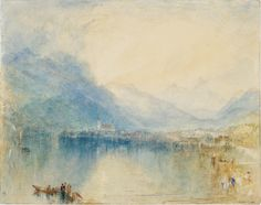 Joseph Mallord William Turner 'Arth, on the Lake of Zug. Early Morning: Sample Study' c.1842-3