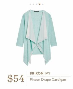 Stitch Fix: Brixon Ivy Pinson Drape Cardigan - this color is perfect for spring!