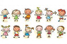 Happy Cartoon Kids Bundle, children doodle, kids doodle Happy Cartoon, Cartoon Kids, Cartoon Images, Cute Cartoon, Friends Clipart, Shrink Art, Graphic Wallpaper, Kids Running, Happy Kids
