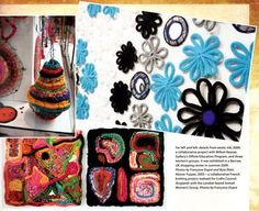I-cord spool knit decorations bowls art