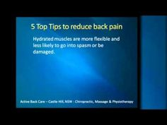 Active Back Care, Castle Hill - 5 tips to reduce back pain