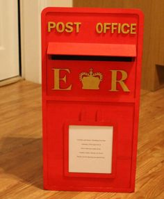 Wooden Wedding Post Box Personalised With Your Own Initials And Details