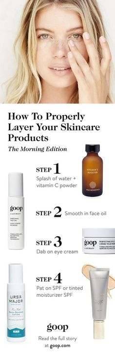 Beauty tips: How to best layer your skincare products.