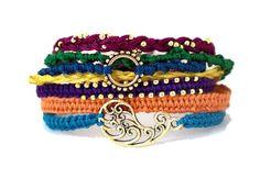 Friendship Bracelets  Festival of India  Gold by NauticalWheeler