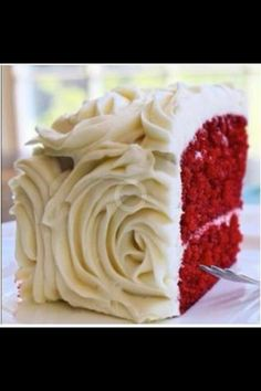 Red velvet wedding cake. This is definitely happening, which is why I'm somewhat leaning toward red bridesmaid dresses...
