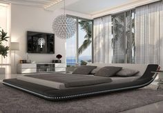120 Unique And Elegant Bedroom Design Ideas 83 Result - Home Decor & Design Beautiful Bedroom Designs, Beautiful Bedrooms, Modern Master Bedroom, Master Bedroom Design, Contemporary Bedroom, Dream Bedroom, Bedroom Loft, Fancy Bedroom, Platform Bedroom