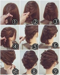 Wenn Sie kurze Haare haben, können Sie auch geflochtene Frisur probieren.