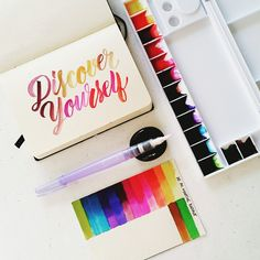 #calligrafikas #brushlettering #watercolor  Paper: Monologue soft book A6 Paint: Dr. Ph Martin's radiant concentrated watercolors Brush: Kuretake waterbrush in large