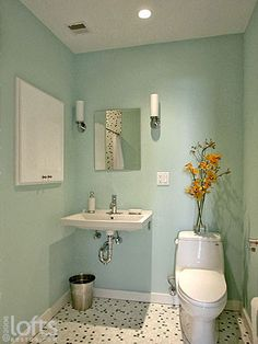 Guest Bath, Example Of Wall Mount Sink