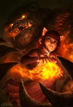 Annie - League of Legends by DavidRapozaArt.deviantart.com on @deviantART