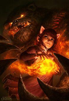 Annie - League of Legends by DavidRapozaArt.deviantart.com on @deviantART