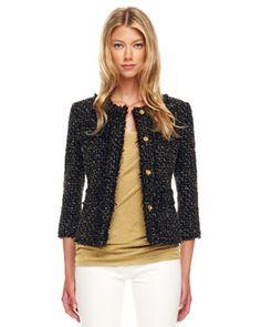 B20FJ Michael Kors Metallic Tweed Jacket