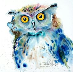 Watercolour owl by Isabel Salvador Visual Arts