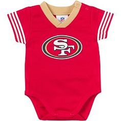 Bring gameday charm to your little one's wardrobe with this breathable infant essential that has convenient snap buttons for easy changing. Mesh Bodysuit, Baby Bodysuit, Our Baby, Baby Boy, 49ers Fans, San Francisco 49ers, Baby Size, Cute Babies, Onesies