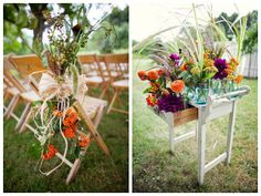 Autumn rustic wedding decor #outdoorwedding #weddingdecor #fallwedding #autumnwedding #rusticwedding