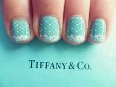 @Tiffany & Co. inspired #nails for the big day