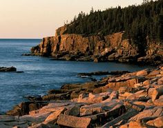 Solid-Faced Canvas Print Wall Art Print entitled Coastline of Acadia National Park, Maine Great Places, Places To See, Beautiful Places, Dream Vacations, Vacation Spots, Monhegan Island, Mount Desert Island, Acadia National Park, Wonders Of The World