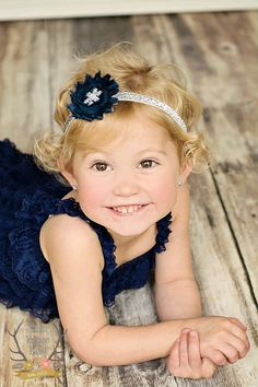 Silver & Navy Blue Snowflake Glitter Winter Baby Headband by TheRogueBaby #headband #glitter