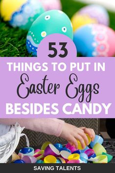 Non-Candy Easter Egg Fillers – Saving Talents . Non-Candy Easter Egg Fillers – Saving Talents . Easter Egg Basket, Easter Hunt, Easter Gifts For Kids, Easter Crafts, Easter Food, Hoppy Easter, Easter Party, Easter Decor, Easter Ideas For Kids