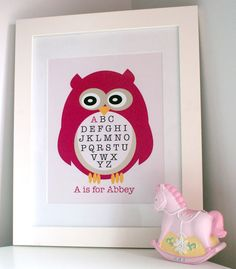 Personalised prints for kids at That Mama Got Soul Linck Crafts To Make, Arts And Crafts, Paper Crafts, Personalised Prints, Kids Seating, Owl Print, Cute Owl, Kids Prints, Beautiful Children