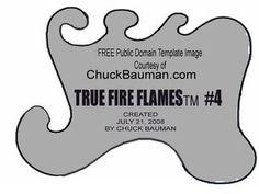 Free True Fire Flames airbrushing stencil template #5 photo true-fire-template-stencil-5.jpg