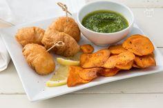 Il fish and chips di rana pescatrice si ispira ad uno dei piatti anglosassoni più famosi, ma in una versione più moderna perfetta per l'aperitivo!